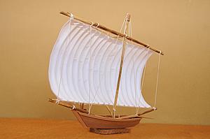 霞ヶ浦帆引き船模型